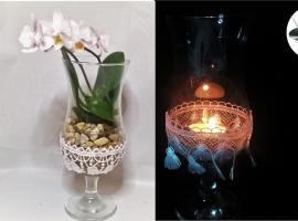 Jak stworzyć dekorację z koronkowego materiału