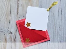 Jak zrobić kartkę z kieszonką - nie tylko na święta