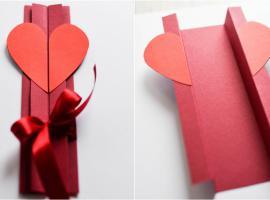 Jak zrobić kartkę walentynkową - składana z sercem