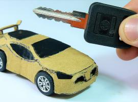 Jak zrobić mini samochodzik z kartonu