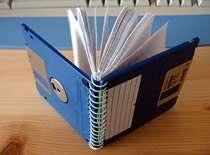 Jak zrobić notatnik z dyskietek