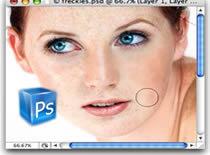 Jak usunąć piegi w Photoshopie