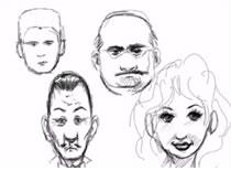 Jak narysować kilka głów - 4 rodzaje